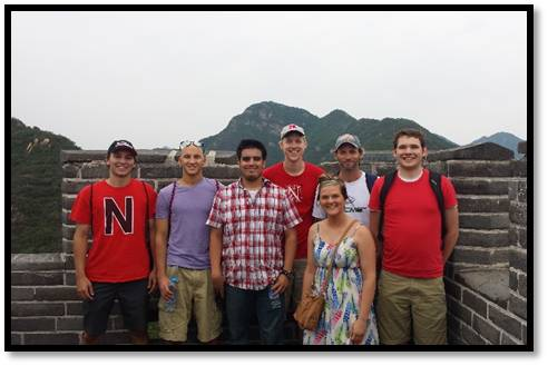 UNL students in China, summer 2014.