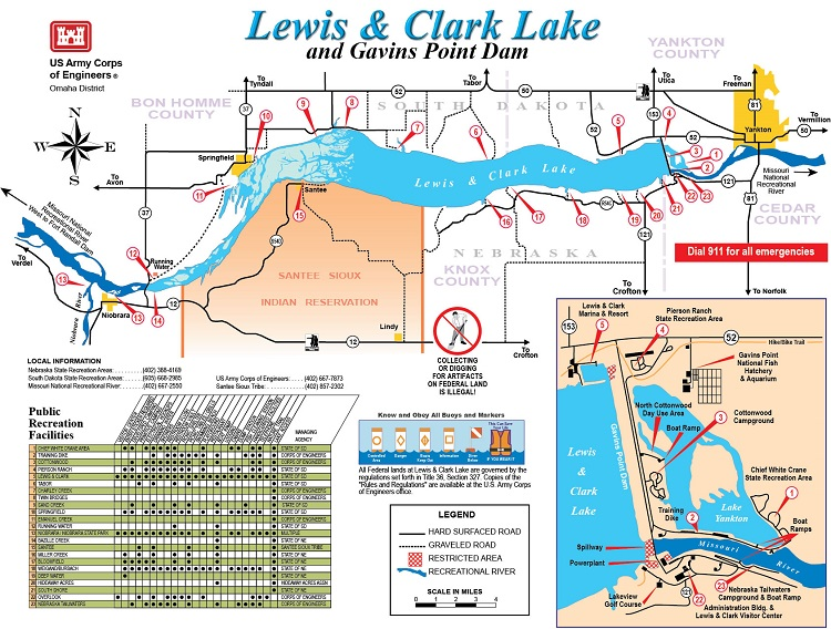 Lewis and Clark Lake, near Yankton, is one of the South Dakota park system's most popular resort parks.