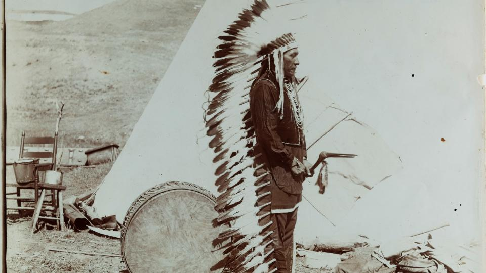 Crow Indian photographed by Fred E. Miller. (Courtesy photo)