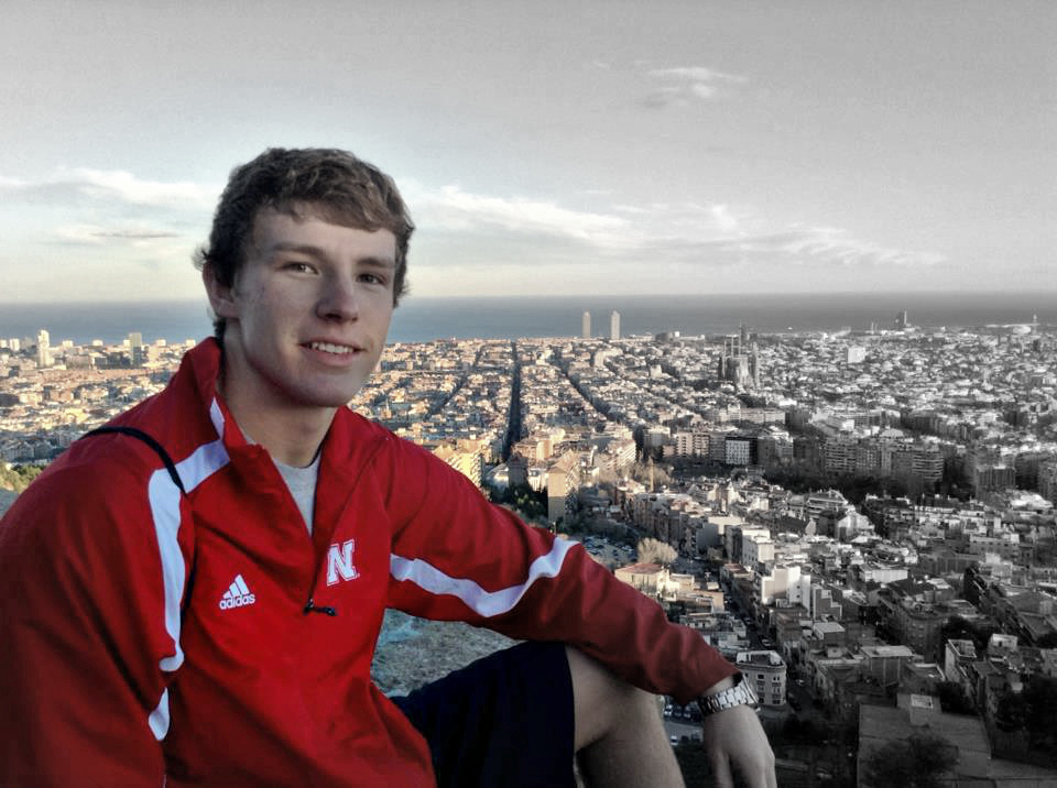 Nick Smith on a study abroad program to Barcelona, Spain