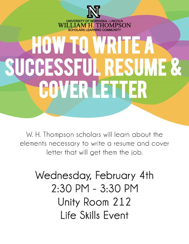how to write a successful resume cover letter announce university of nebraska lincoln
