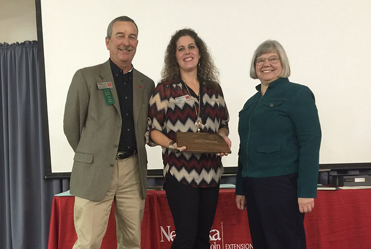 Katie Pekarek, assistant Extension educator, won the 2014 Innovative Extension New Employee Award. (Courtesy photo)