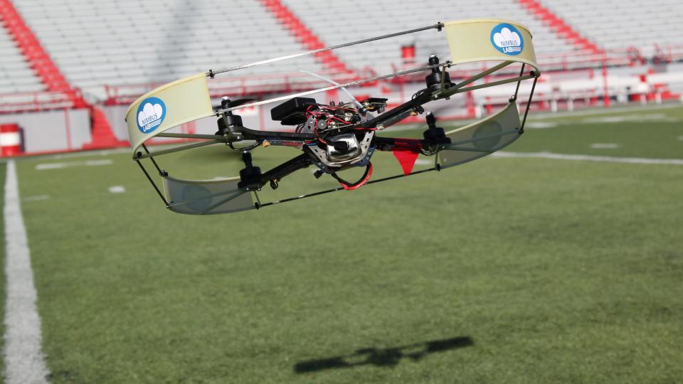 Aerial robot being developed in UNL's NIMBUS Lab.