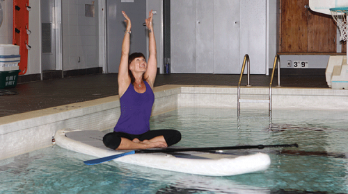 Stand up paddleboarding class begins march 1 announce for Stand up pool