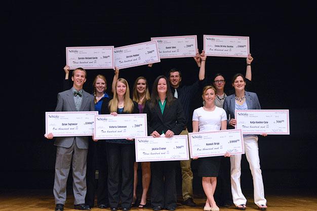 The winners of the 2014 SNR Elevator Speech Contest. (Mekita Rivas   Natural Resources)