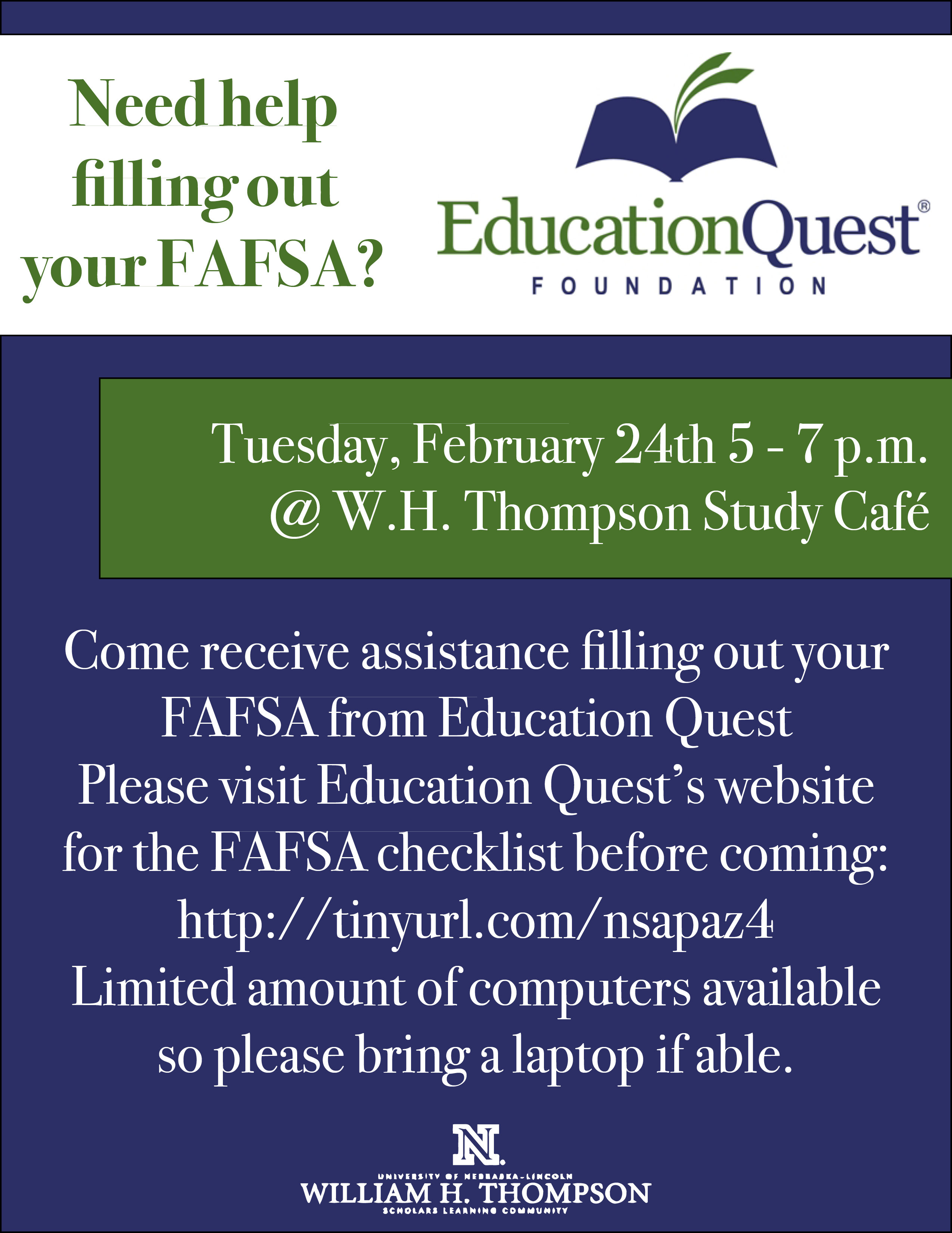 Need Help Filling Out Your Fafsa Announce University