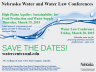 Back-to-back one-day water symposium and water law conference will be at Lincoln's NU College of Law March 19 and 20.