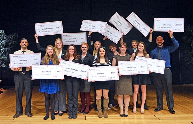 The winners of the 2015 SNR Elevator Speech Contest. (Mekita Rivas | Natural Resources)