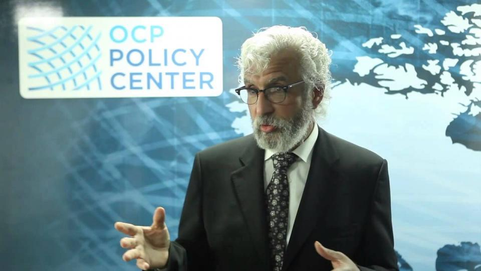 UNL's Azzeddine Azzam during an interview with the OCP Policy Center. (Photo courtesy YouTube)