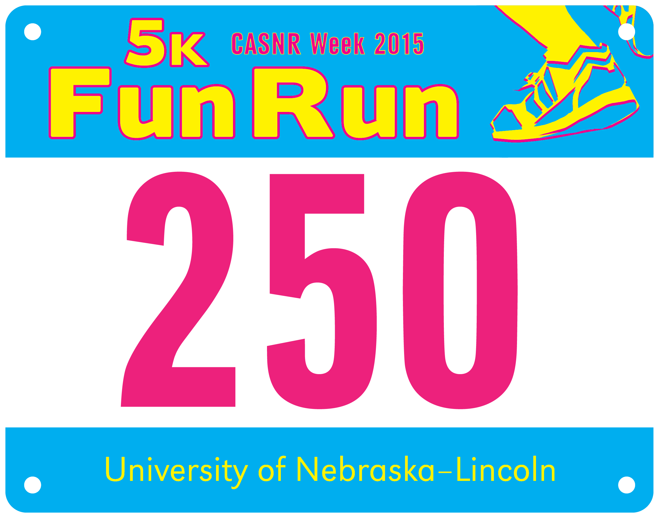 Every registered participant receives an offical CASNR Fun Run race bib and number.
