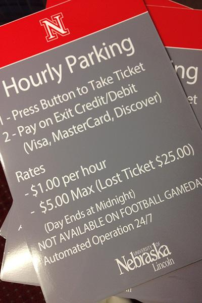 Parking options at UNL are expanding to include a pay-by-hour service in three City Campus garages.