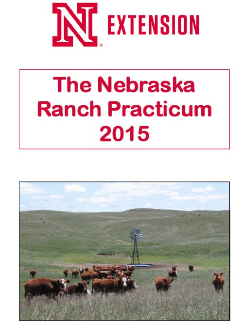 Applications for the 2015 Nebraska Ranch Practicum are due May 1.