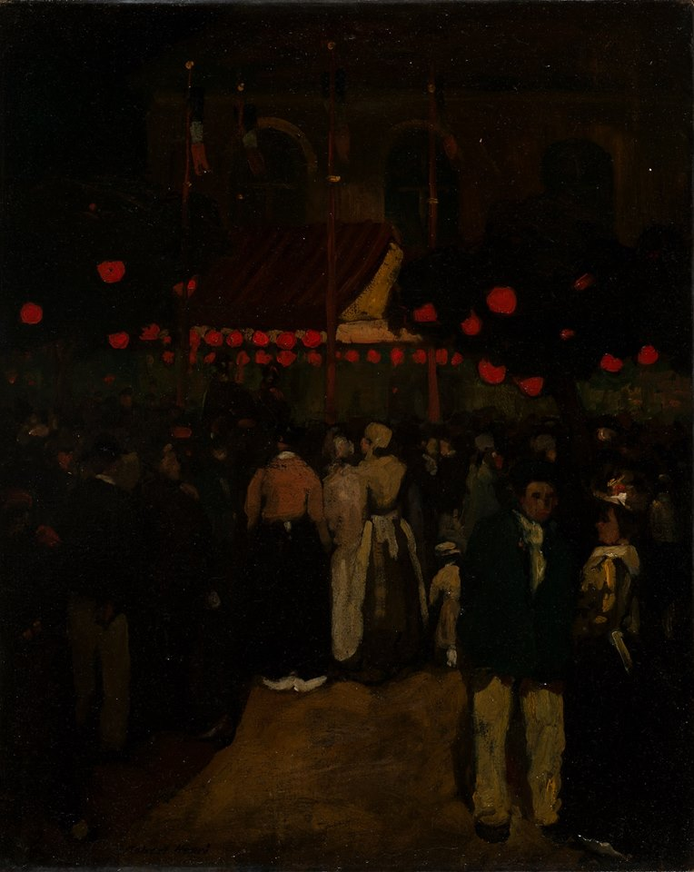 "Robert Henri. ""Fourteenth of July —La Place,"" c. 1898."