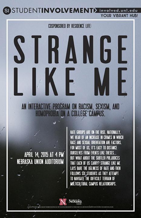 Strange Like Me Event Poster