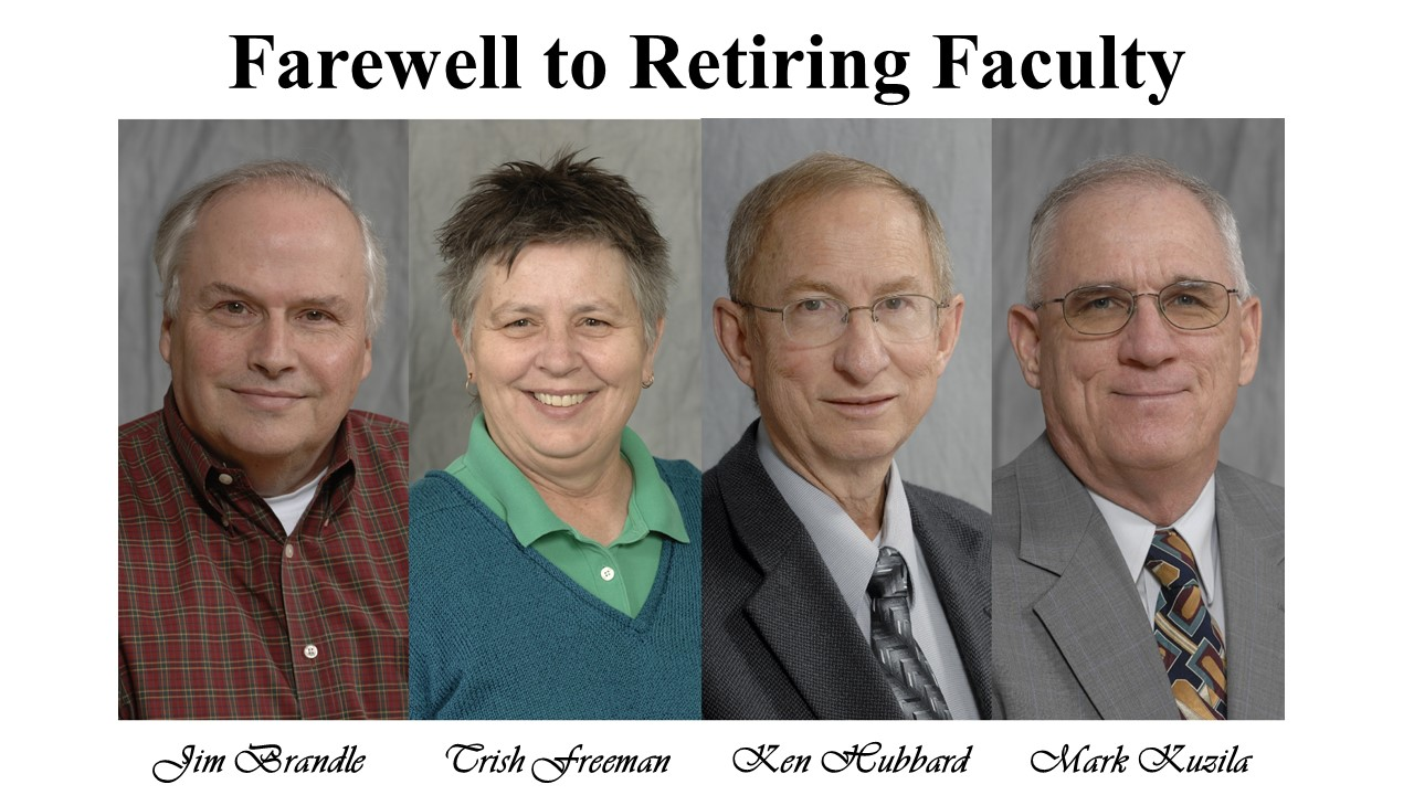 Four SNR faculty members are participating in a university-wide Voluntary Separation Incentive Program (VSIP).