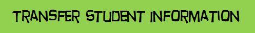 Transfer Student Information