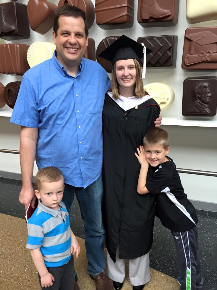 Lindsay Augustyn with her family