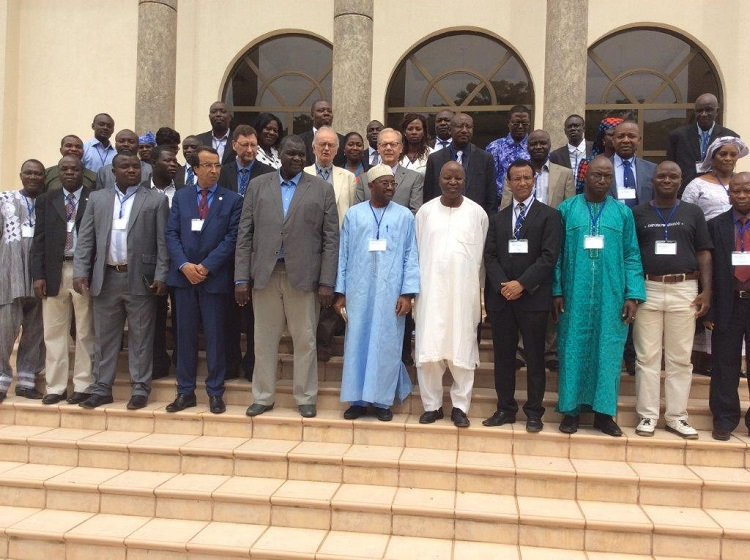 Don Wilhite (center) at the 6th Regional Capacity Building Workshop on National Drought Management Policies in Accra, Ghana. (Courtesy photo)