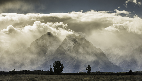 """Phil Perry, """"Shrouded Tetons,"""" archival pigment print, 2014."""