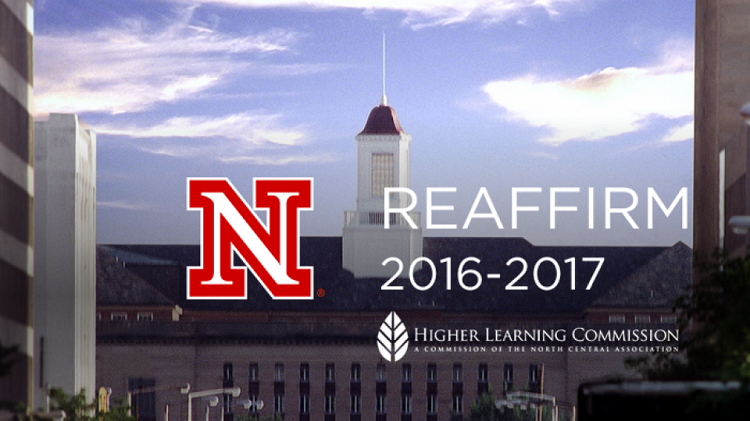 The contributions of more than 80 faculty, staff and administrators working to draft the Assurance Argument and Federal Compliance report for the University of Nebraska-Lincoln's Reaffirmation of Accreditation process were recently recognized.