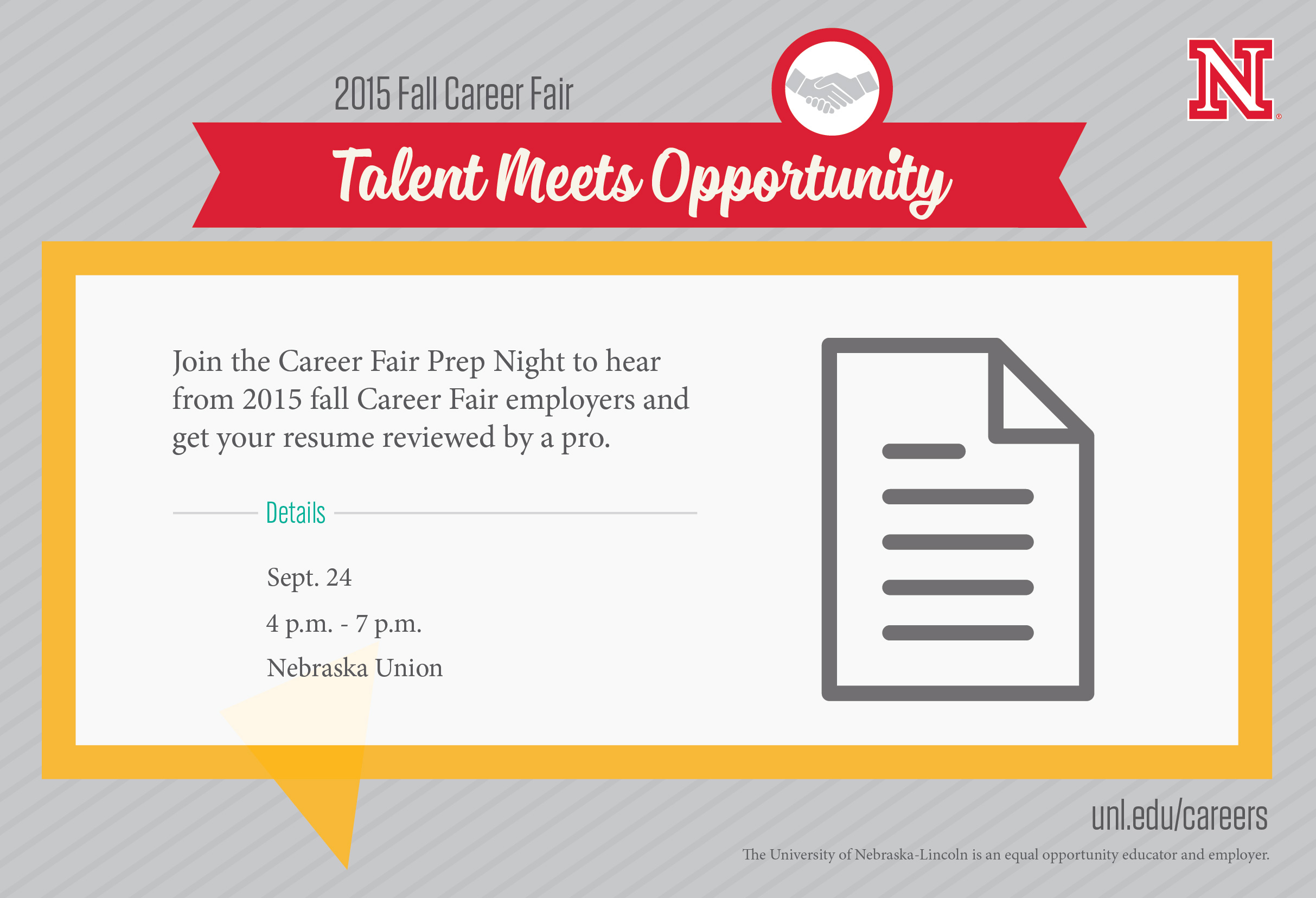 career fair prep resume review night thursday september 24 nu