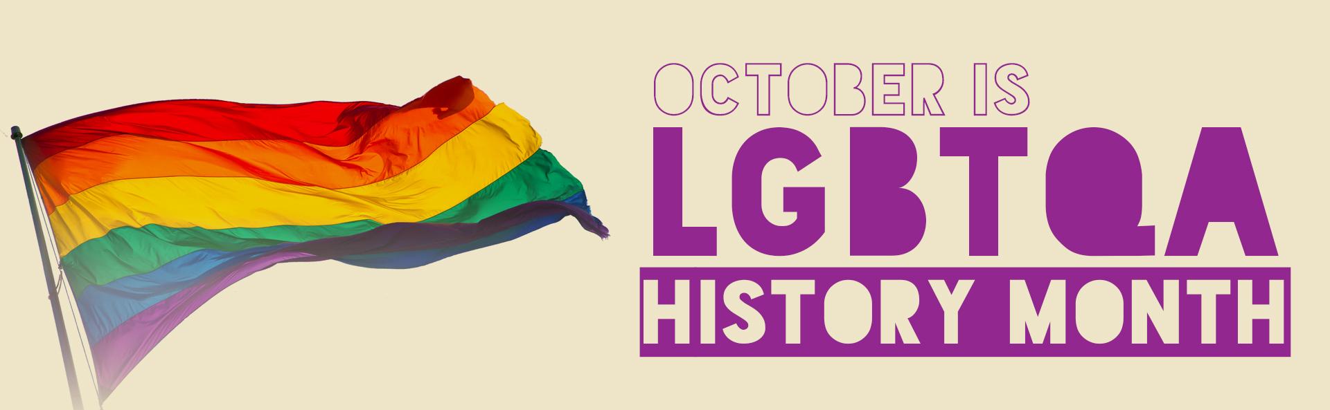 LGBTQA+ History Month Banner