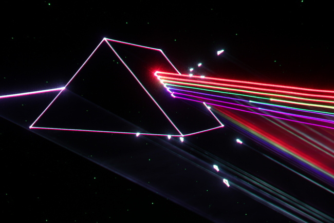 Laser Pink Floyd: Dark Side of the Moon. Courtesy: Prismatic Magic & FirstLight Productions