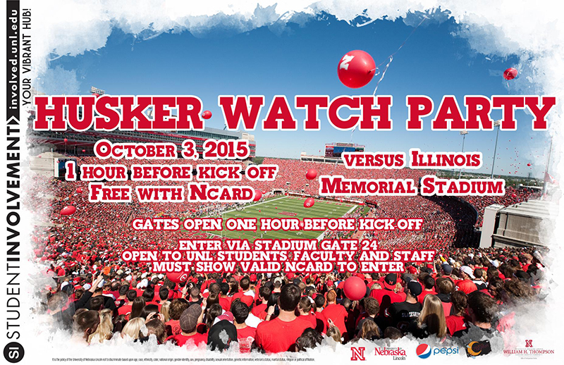 Husker Watch Party 2015