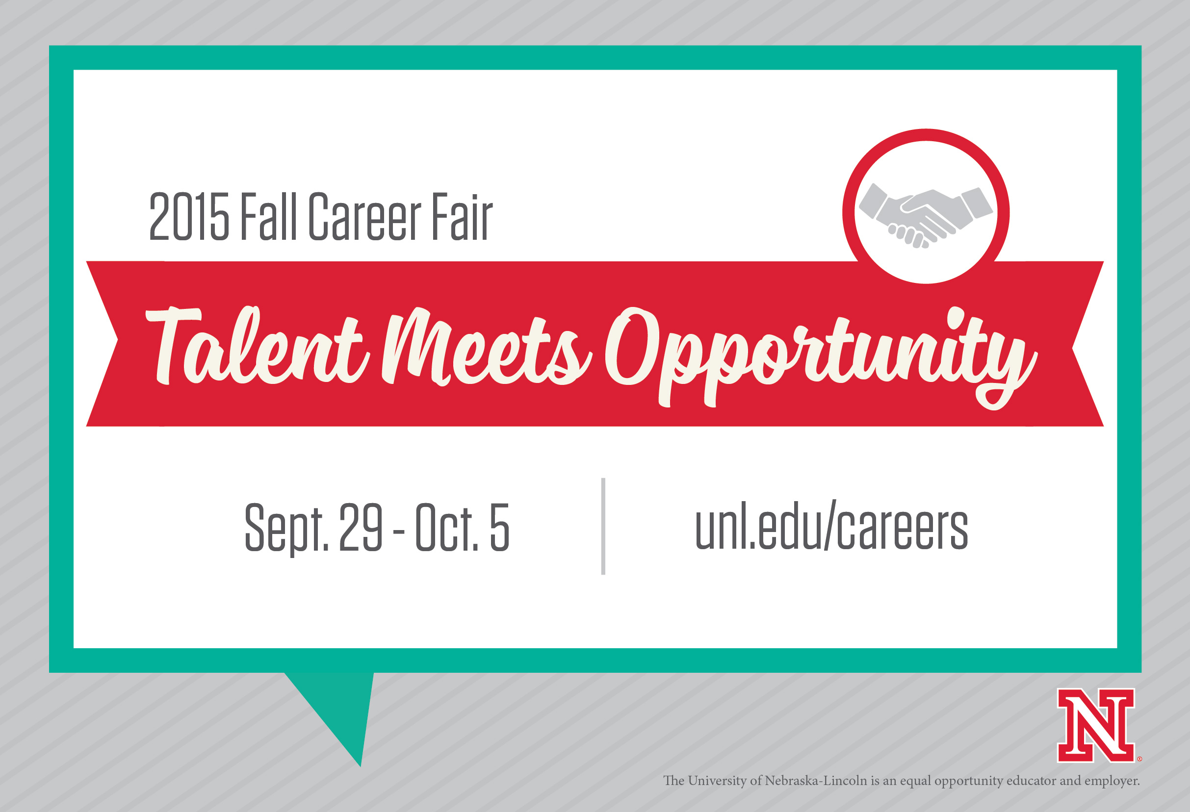 Attend the Fall 2015 Career Fairs, Sept. 29 - Oct. 5.