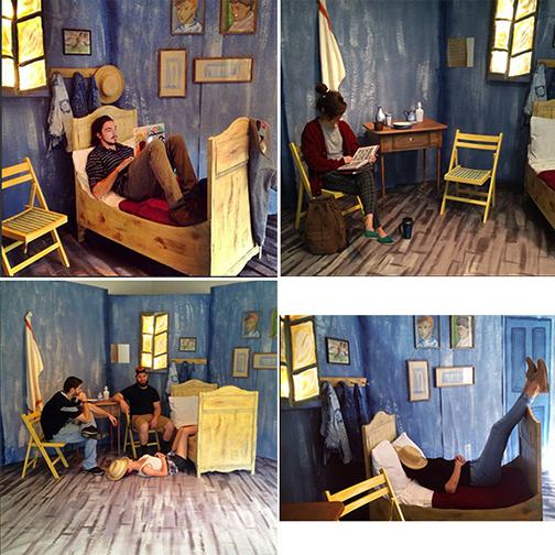 Two art students create 3-D version of Van Gogh\'s \'Bedroom in ...