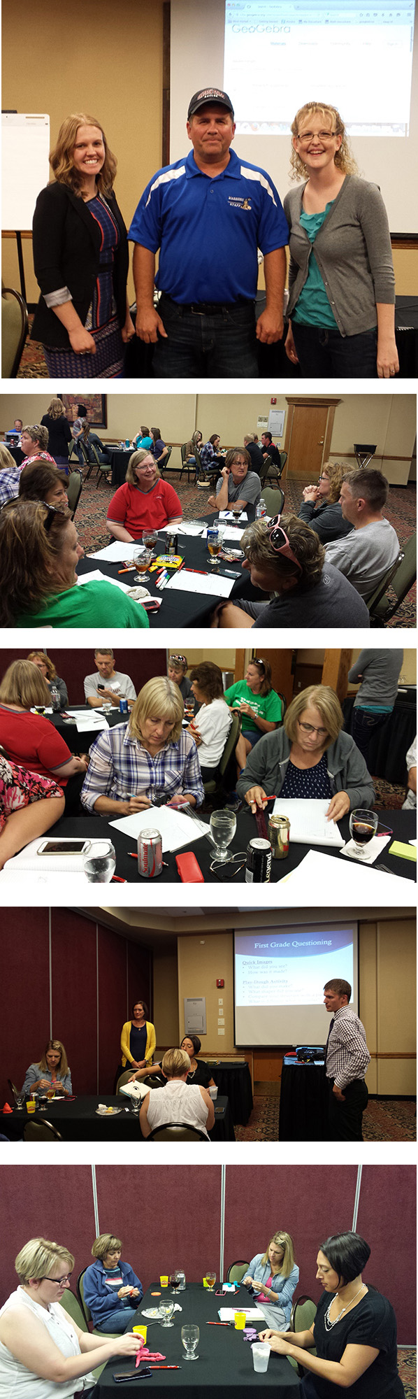 Photos from Kearney before the NATM fall conference at the first Greater Nebraska Math Teachers Circle meeting of the year.