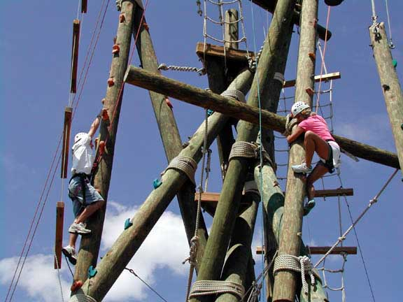 Groups develop teamwork with our outdoor challenge course