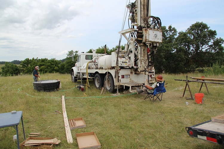 Conservation and Survey celebrates drilling first test hole of its kind