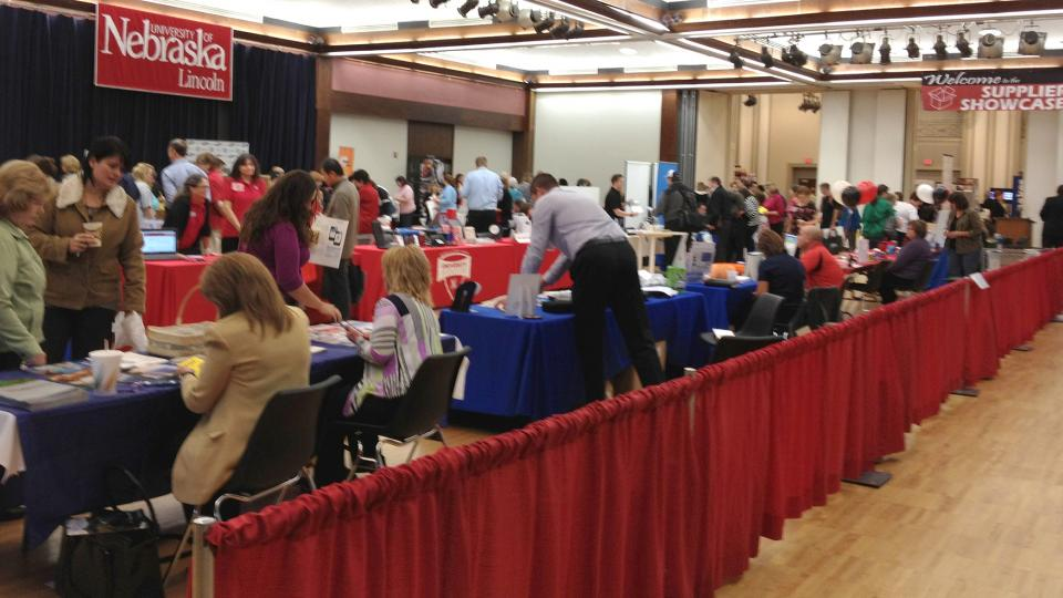 The 2015 Supplier Showcase is 10 a.m. to 2 p.m. Oct. 20 in the Nebraska Union Centennial Room. The event, organized by Procurement Services, is open to faculty and staff.