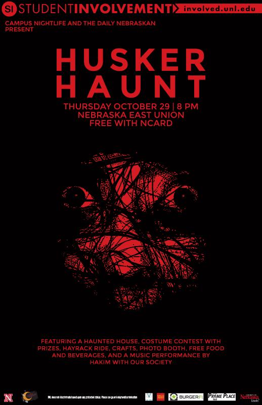 Husker Haunt Poster