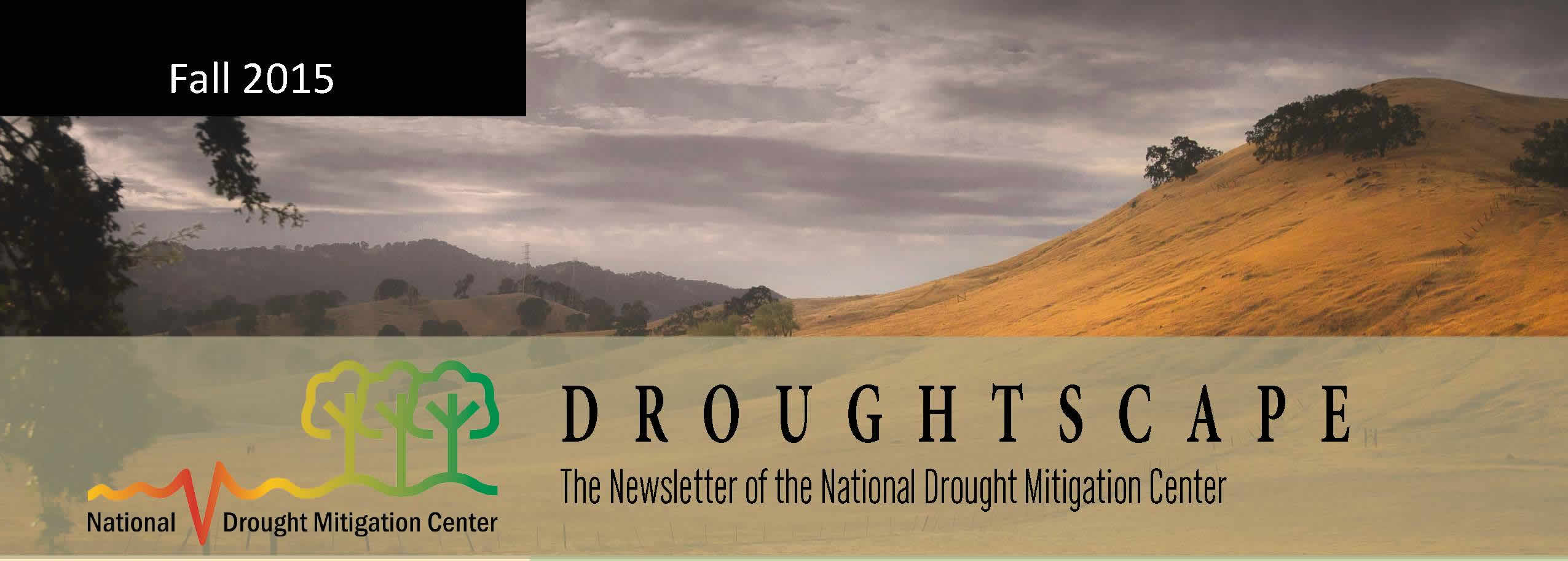The fall 2015 issue of DroughtScape is now available.