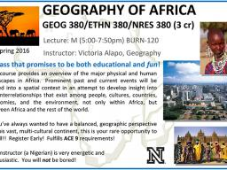 'Geography of Africa' course flyer