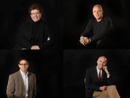 (Clockwise from top left):  Carolyn Barber, William Shomos, Glenn Nierman and Robert Woody.