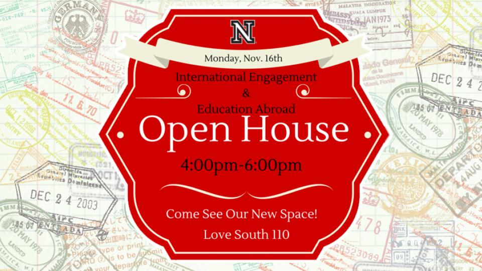 UNL is kicking off International Education Week (Nov. 16-20) with an open house in new office space for Education Abroad and International Engagement.
