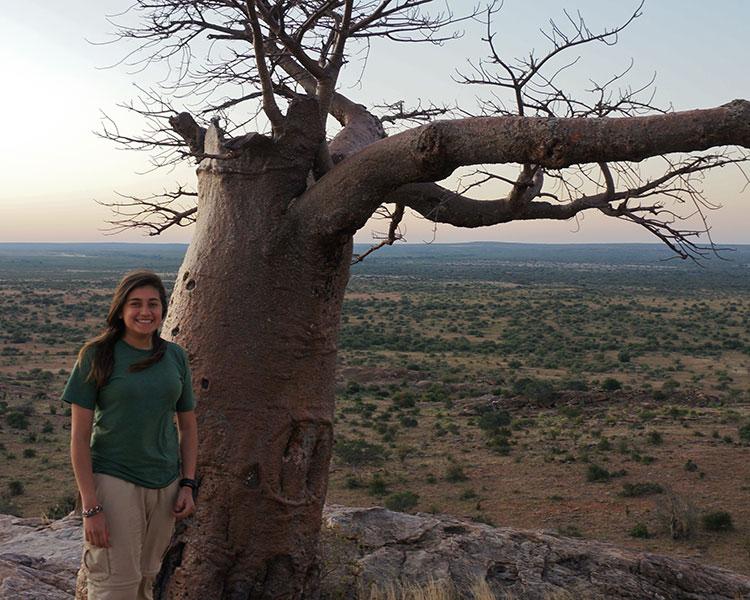 Jazmin Castillo during her trip to Botswana in 2015. (Courtesy photo)