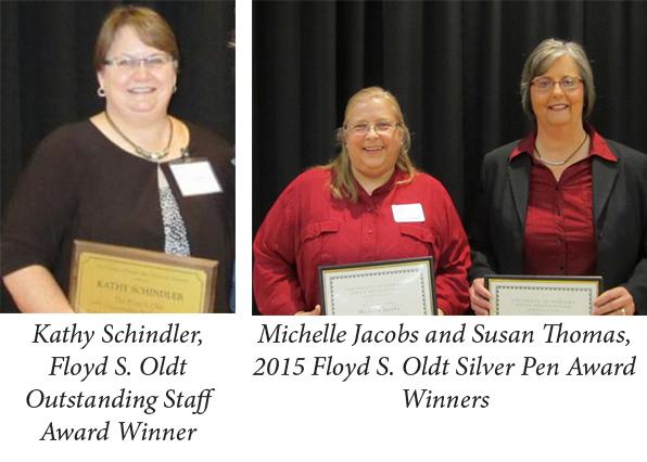 Floyd S. Oldt Outstanding Staff and Silver Pen Award Winners