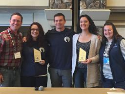 (L to R): Wayne Young Jr., NASPA Region IV-West Director; Krystal McCain; Travis Fuller; Jaclyn McHugh; Shannon M. B. Breske, Case Study Competition Director