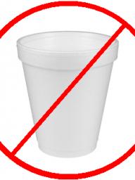 After Jan 1st, Styrofoam is not allowed!