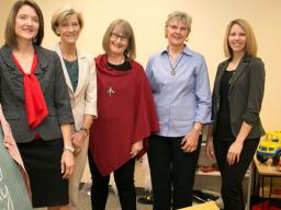 CYFS researchers have received $2.5 million in funding to advance early childhood development with the Getting Ready research intervention. Lisa Knoche (left) leads the study, along with Susan Sheridan, Helen Raikes, Christine Marvin and Leslie Hawley.