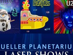 Mueller Planetarium at the University of Nebraska State Museum in Morrill Hall, south of 14th and Vine streets, will light up with laser light holiday and rock shows in December.