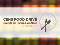 CEHS Food Drive December 3-17
