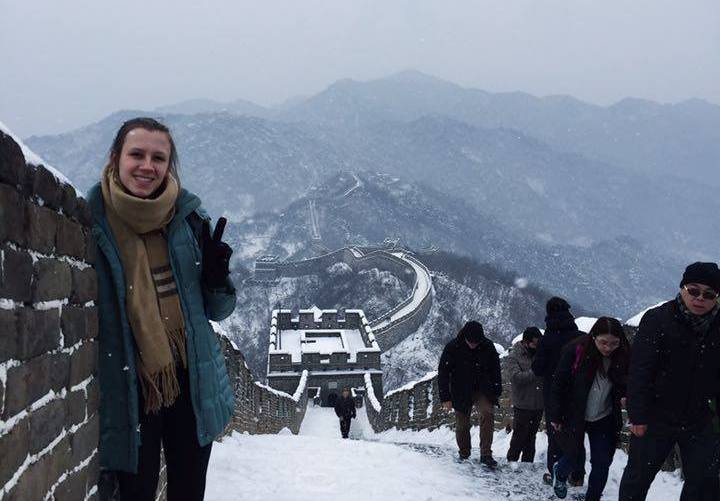 Margaret Davenport at the Great Wall of China. (Courtesy photo)