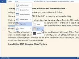 Tips, Tricks & Other Helpful Hints: Using Read Mode in Microsoft Word