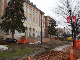 A renovation of the south entrance to UNL's Nebraska Union has started. The first phase of the project, which will continue into the first two weeks of the spring semester, upgrades drainage to direct rainwater away from the building.