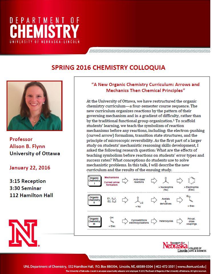 Chemistry Education Seminar on January 22, 2016